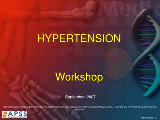 HYPERTENSION  Workshop