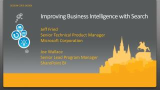 Improving Business Intelligence with Search