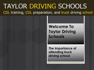 Best commercial driving lessons at Taylor driving school