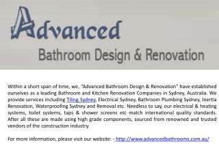 Renovation Service