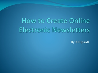 How to Make Free Digital Newsletters
