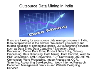 Outsource Data Mining in India