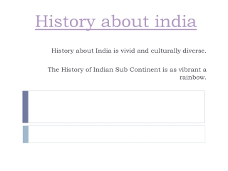 History about India