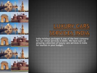 luxury car services india