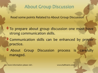 Read some points about Group Discussion