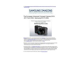 The European ADvanced Compact Camera 2010-2011 from ELSA: Sa
