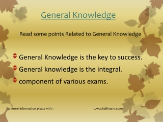 logical points for General Knowledge