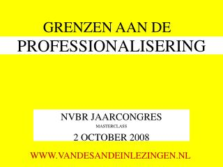 PROFESSIONALISERING