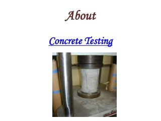 Concerete Testing