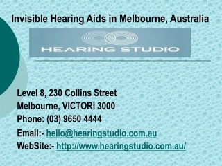 Invisible Hearing Aids in Melbourne