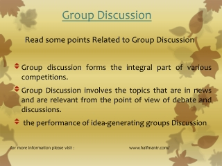 Read some points Group discussion