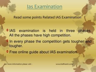 Read some points IAS Examination