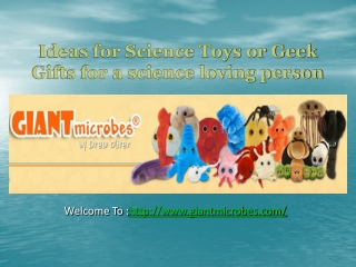 Ideas for Science Toys or Geek Gifts for a science loving pe