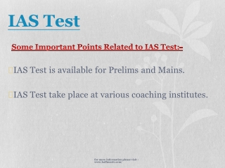 Collect news about IAS Test