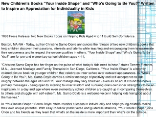 """New Children's Books """"Your Inside Shape"""" and """"Who's Going"""