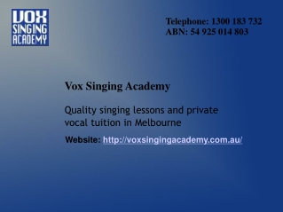 Intensive Vocal Training in Australia