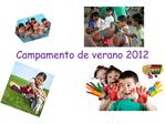 Campamento de verano 2012