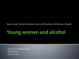 Young women and alcohol