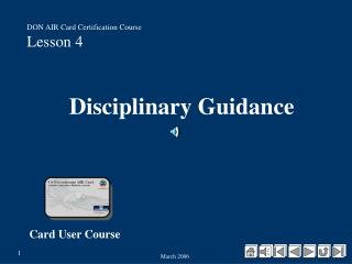 Disciplinary Guidance