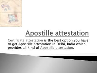 appostile certification