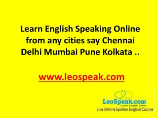 Online Spoken English Course - Learn English Speaking