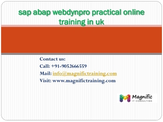 sap abap webdynpro practical online training in uk