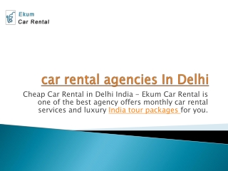 car rental agency in delhi