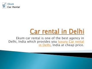car rental in delhi