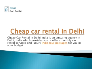 cheap car rental in delhi