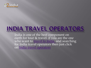 india travel agency