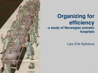 Organizing for efficiency - a study of Norwegian somatic hospitals