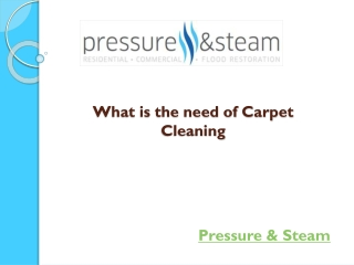 What is the need of Carpet Cleaning
