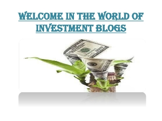 What Is Investment Plan