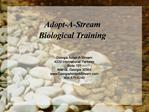 Adopt-A-Stream Biological Training