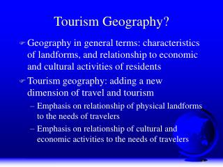 Tourism Geography?