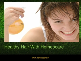 Hair loss treatment in homeopathy
