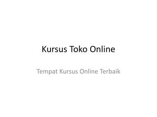 Kursus Toko Online
