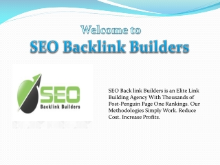 SEO Backlink Builders