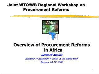 Joint WTO/WB Regional Workshop on Procurement Reforms