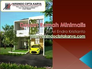 Desain Rumah Minimalis by arsindociptakarya