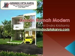 Desain Rumah Modern by Arsindociptakarya.com