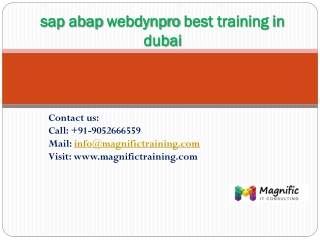 sap abap webdynpro best training in dubai