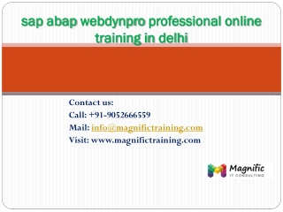 sap abap webdynpro practical training in uk