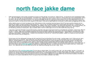 north face jakke dame