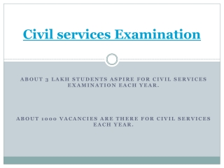 Civil Services examination information