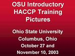 OSU Introductory HACCP Training Pictures
