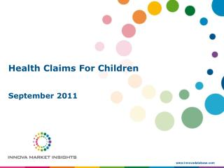 Health Claims For Children September 2011