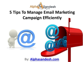 5 Tips To Manage Email Marketing Campaign Efficiently