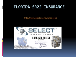 florida sr22 insurance