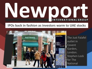 Newport International Group: IPOs back in fashion as investo
